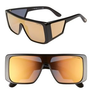 New TOM FORD Atticus Shield Black Sunglasses